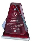 Arrowhead Glass Mounted with Rosewood Back Rosewood Glass Awards