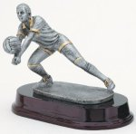 Volleyball, Female Signature Rosewood Resin Trophy Awards
